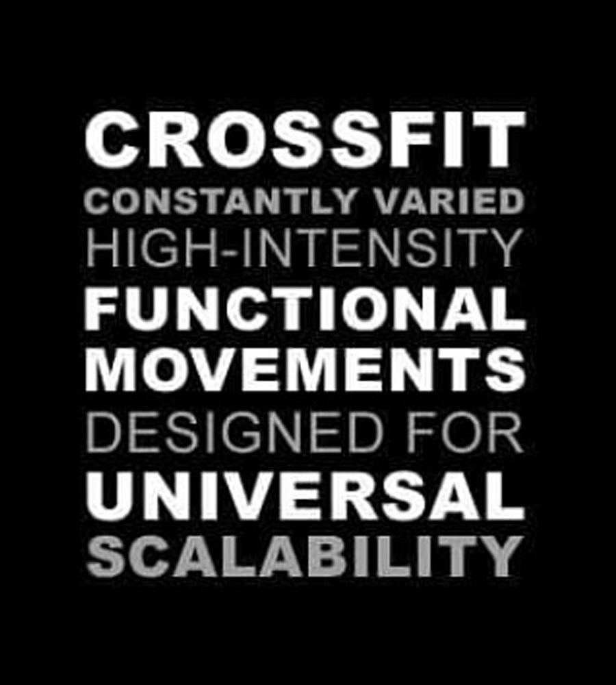 CrossFit Constantly Varied High-Intensity Functional Movements Designed for Universal Scalability